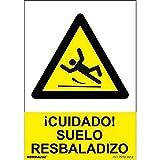Normaluz RD30050 - Señal Cuidado Suelo Resbaladizo PVC Glasspack 0,7 mm 21x30 cm
