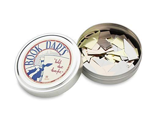 Book Darts -Lesezeichen Box Edelstahl - Mix 50 St, Made in USA