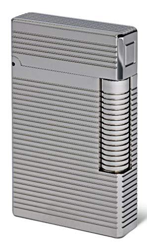 Davidoff * Zigarreneuerzeug Prestige Lighter Palladium Lines inkl. Lifestyle-Ambiente Tastingbogen
