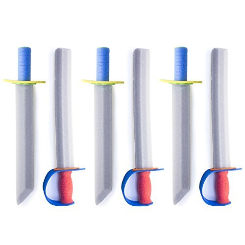 "Super Z Outlet 16"" Foam Prince Sword Toy Set Party Supplies (6 Swords)"
