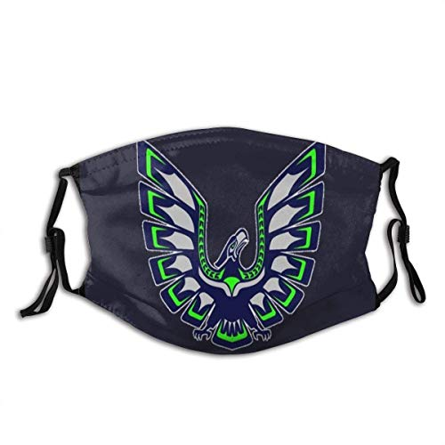 Seahawks Unisex Windproof and Dustproof Mouth Mask,Face Cover with Adjustable Elastic Strap