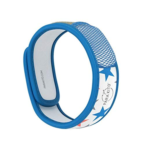 PARA'KITO Mosquito Insect & Bug Repellent Wristband - Waterproof, Outdoor Pest Repeller Bracelet w/ Natural Essential Oils (Stars)
