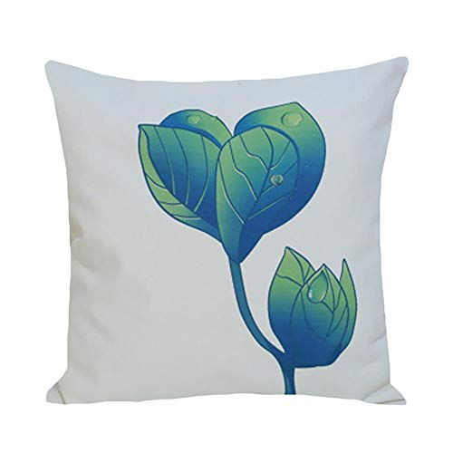 Torey 1 funda de cojín decorativa con estampado de hojas tropicales, muy suave, de peluche, con cremallera oculta para decoración del hogar.
