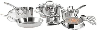 T-fal C798SC Ultimate Stainless Steel Copper-Bottom Heavy Gauge Multi-Layer Base