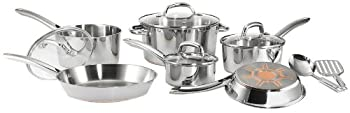 T-fal C836SC Ultimate Stainless Steel Copper Bottom Cookware Set Image