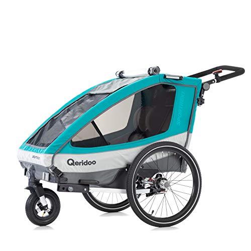 Qeridoo Remolque para bicicleta infantil Sportrex1 (2019), color azul