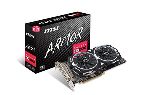 V341–064r–Radeon RX 580Armor 8G OC Radeon RX 580, 8Go GDDR5, PCI Express x16, DisplayPort DVI-D de x 2/HDMI x 2/DL