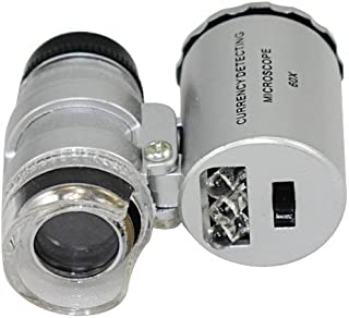 Sungpunet reg; New Silver 60X Loupe Portable Mini Pocket LED UV Light Microscope Magnifier