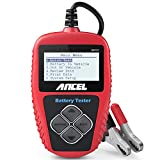 ANCEL BA101 Batterietester Professional 12V 100-2000 CCA 220AH Automotive Batterie Belastungstest Testgerät Digital Analyzer Batteriezustand Test-Tool für Auto/Boot/Motorrad und Mehr