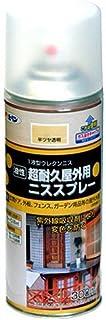 アサヒペン 屋外用ニススプレー 300ML 半ツヤ透明 【まとめ買い3缶セット】