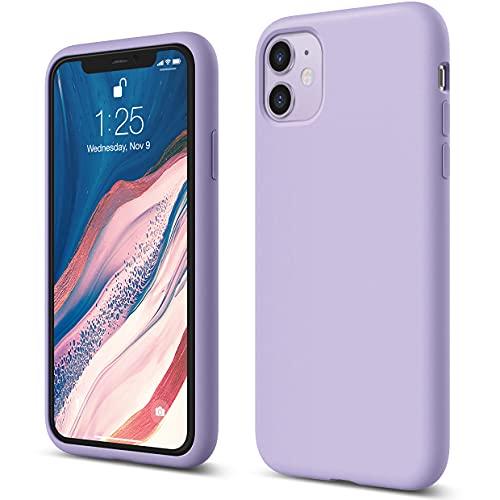 """Elago Silicone Liquido Custodia Cover Compatibile con iPhone 11 Case (6.1""""), Silicone Liquido Premium, Protezione Full Body : Case Antiurto 3 Strati (Viola)"""
