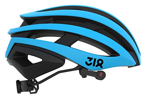 ZAKPRO Smart Cycling Helmet with Bluetooth Speakers and Sensitive Rear Alerting Lights - 318 Series, Medium (Blue)