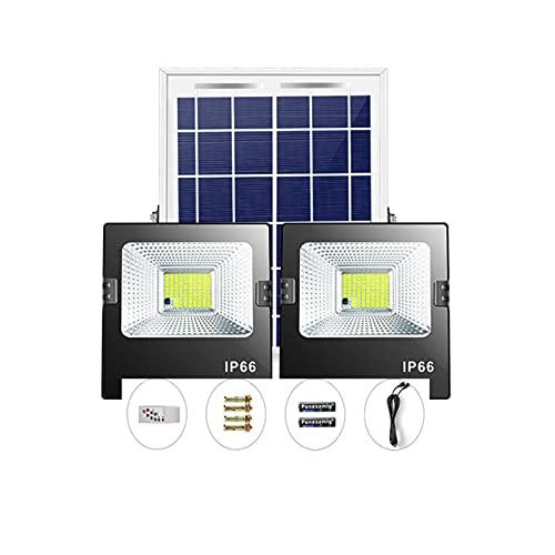 WKZ Foco Solar Led 200w 250w 300w 350w 400w 500w 600w ,Foco Solar Proyector Ip67 Impermeable Luz Blanco-Neutro , con Placa Solar Y Mando Remote Luces Solares Led Exterior Jard(Size:250W)