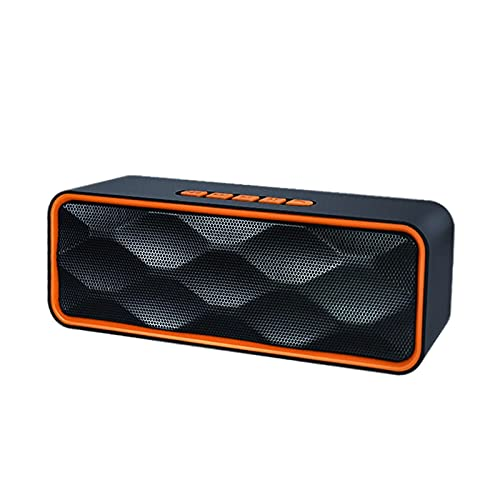 MagiDeal Altavoz Bluetooth Recargable HD Sonido ABOERING Bass USB AUX AUX Incorporado Mic Altavoces para Exteriores para Party Indoors Smartphones Manos Libres - Naranja
