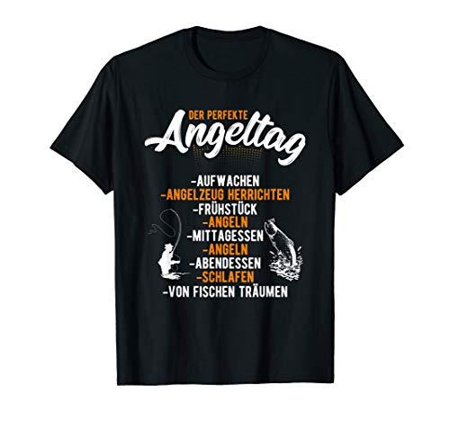Angler Geschenk-Idee fürs Fischen und Angeln, Motiv-Sprüche T-Shirt