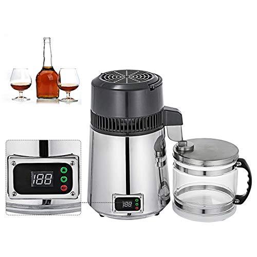 Pure Water Distiller 1.1 Gallon / 4 L Wein Destilliertes Wasser, Die Maschine Edelstahl-Wasseraufbereitungssystem Filter Wasser Distillers Maschine Einstellbare Temperatur 750W,220v