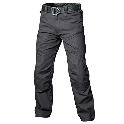 NAVEKULL Men's Hiking Tactical Pants Lightweight Stretch Ripstop Outdoor Military Cargo Pants Black
