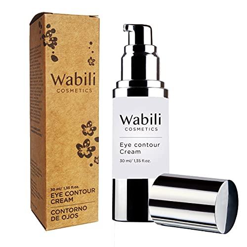 Wabili Cosmetics - Contorno de Ojos Antiarrugas, Hidratante con Aguacate y Ácido Hialurónico | Tratamiento Natural Anti-edad, Antiojeras y Antibolsas | Cuidado Día/Noche para Mujer, 30ml
