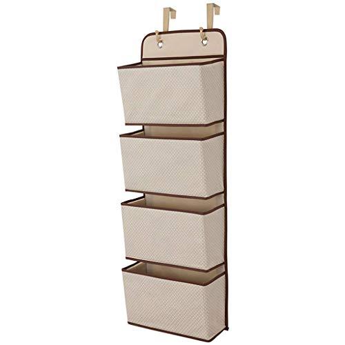 LLKK Material de Lino y algodón ecológico,Bolsa de Almacenamiento de Pared,fácil de almacenar Varios artículos,Almacenamiento Colgante para Ahorrar Espacio