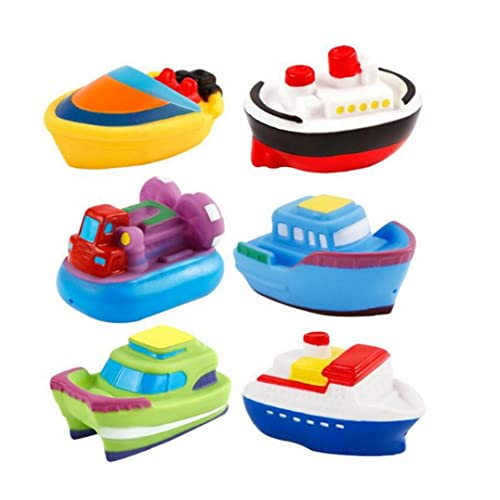Confezione da 6 giocattoli da bagno Piscina Toy Boat Speed ??Boat Bathtub Toy Toddlers Toddlers Toys Toys Toys Toy Toy