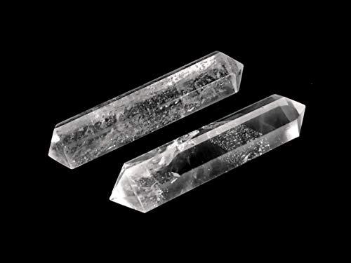 MKöpke® - Bergkristall - 2er-Set Doppelender Kristalltherapie - Bergkristall Spitze | Gr. XS