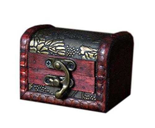 millésime et élégant caisson à bijoux en bois de cas cosmétique