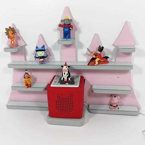 Tonie Regal, Schloß *Farbwahl*, ideale Aufbewahrung für Tonie Box und Tonie Figuren, Kinderzimmer Regal, Deko Board, Musikboxaufbewahrung, Hängeregal