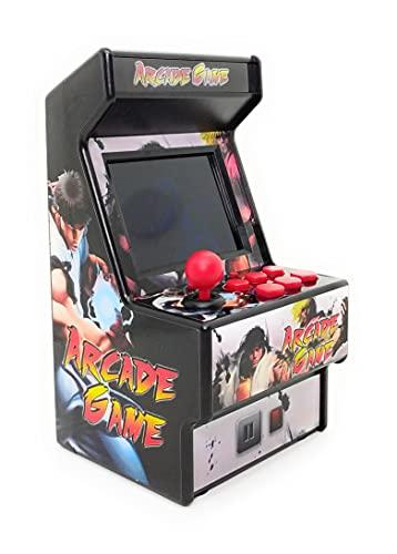 Blockbuster Consola de Juegos Retro Mini Arcade Máquina de Juego Recargable Portatil 16 bits 156 Juegos clásicos