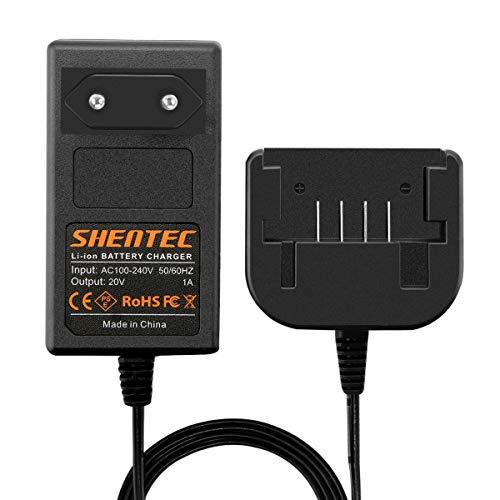 Shentec de 20 V Cargador LCS1620 Compatible con Black and Decker LBXR20 LBXR20-OPE LB20 LBX20 LBX4020 LB2X4020-OPE Batería de litio de 20 V con deslizamiento (BDCAC202B)