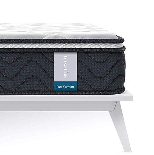 Inofia Queen Mattress, 8 Inch Multi Layer Hybrid Queen Bed Mattress, Breathable Double Mattress with Comfort Foam and Pocket Springs, Queen