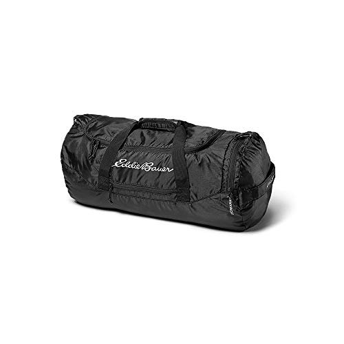 Eddie Bauer Unisex-Adult Stowaway Packable 45L Duffel, Onyx Regular ONE SIZE