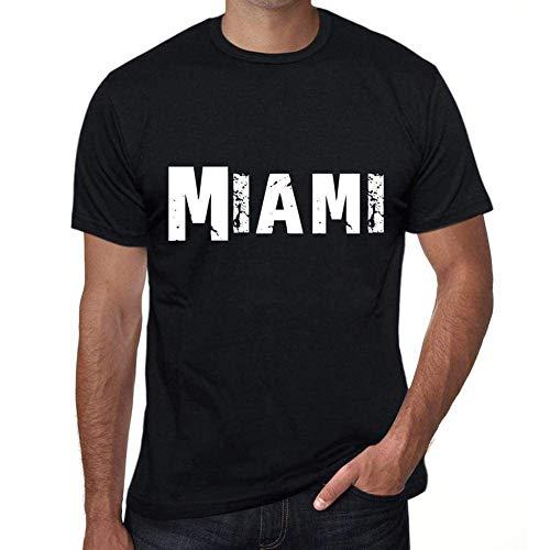 One in the City Miami Hombre Camiseta Negro Regalo De Cumpleaños 00550