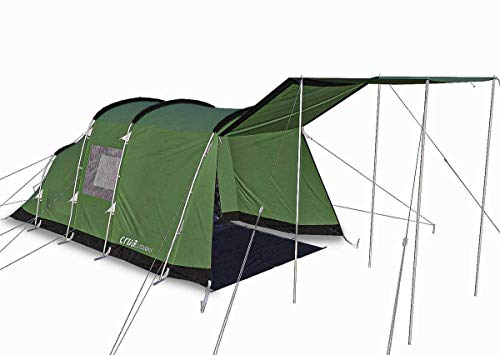Crua Outdoors Tri 3 Person Premium Quality All Weather Insulated Breathable Tent - Weatherproof, Warmth & Cooling Insulation For Winter, Snow, Rain & Summer Heat, Hunting, Camping