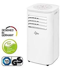 Climatiseur mobile local CoolFixx 2.6 Eco R290 | pour les locaux jusqu'à 80 m3 (34 m2) | tuyau d'air d'échappement | Radiateurs et déshumidificateurs au liquide de refroidissement écologique R290 | 9.000 BTU/h | Suntec Wellness