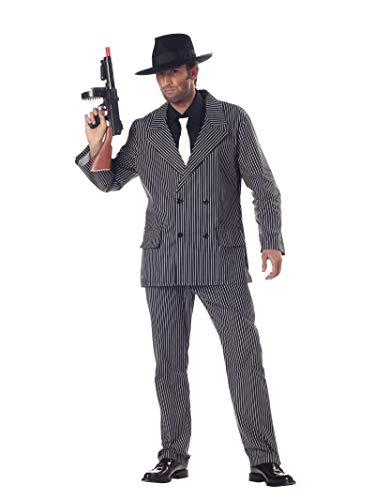 California Costumes mens Gangster Adult Sized Costume, Black and White, Large US