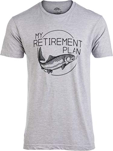 My (Fishing) Retirement Plan | Funny Fish Pole Humor Fisherman Men Joke T-Shirt-(Adult,XL) Sport Grey