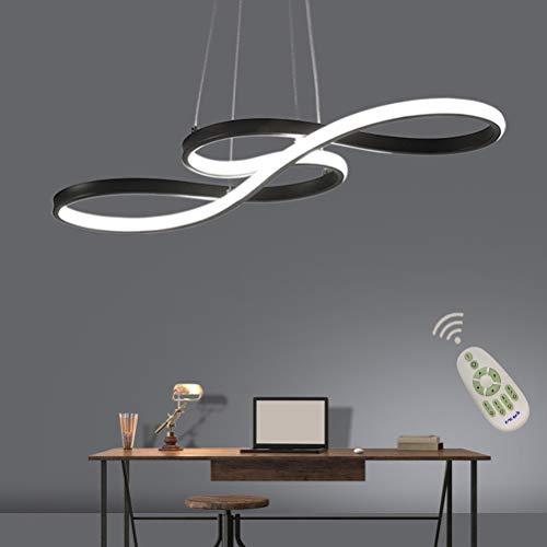Lampara LED de diseno para mesa de comedor regulable con mando a distancia lampara de techo colgante lampara de mesa de comedor luz de color/brillo regulable lampara de salon moderna dormitorio