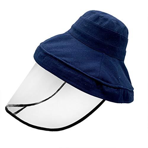 Feytuo Fischerhut, wasserdicht und staubdicht im Freien, Anti-Spuck-Schutzhutabdeckung Außenfischerhut Einstellbare Größe, Blau