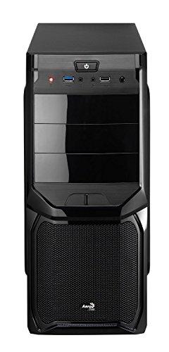 Aerocool EN57417 Midi-Tower PC-Gehäuse (ATX, 3X 5,25 Externe, 4X 3.5 interne, 2X USB 2.0) schwarz