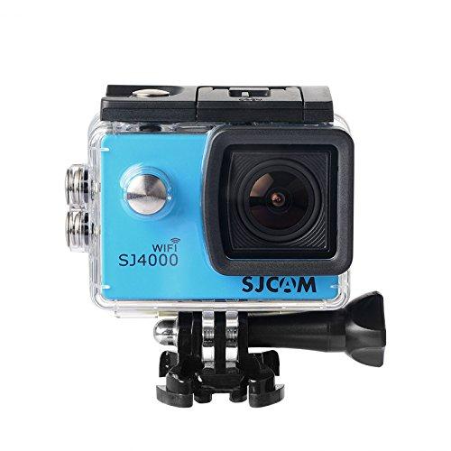 16GB TF Karte + Original SJCAM SJ4000 Wifi Action Kamera, HD 1080P WIFI Wasserdichte Sport Action Kamera H.264 12MP 170 Grad Weitwinkelobjektiv DV zum Tauchen Radfahren(Blue)