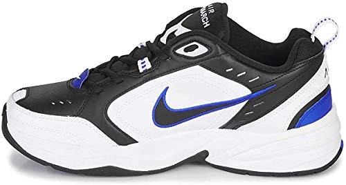Nike Men's Air Monarch IV Cross Trainer, Black/Black-White-Racer Blue, 11 Regular US