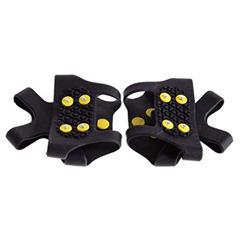 ZDDY Tacos de tracción para Hielo Crampones de Goma Antideslizantes Puños para Hielo y Nieve para Zapatos y Botas Picos con Pinzas de 10 Tacos para Mujeres Hombres Niños Escalada Caminar Senderismo