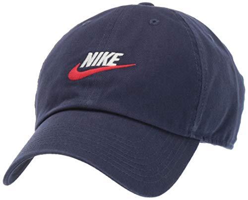Nike - Cappello Unisex NSW H86 Futura Washed Hat, Unisex - Adulto Uomo, Cappello, 913011, Blu Scuro, MISC