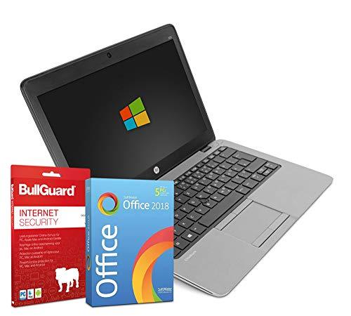 HP EliteBook 820 | 12,5 Zoll HD Notebook | Intel Core i7-6500U@ 2X 2,5 GHz | 8 GB | 256 GB SSD | Windows 10 Pro | BullGuard | SoftMaker Office