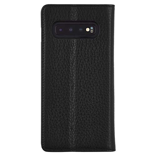 Case-Mate - Wallet Folio - Samsung Galaxy S10+ Leather Wallet Folio Case - Black Leather