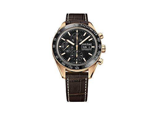 Louis Erard sportive orologio automatico, PVD, cronografo, Tachymeter,...