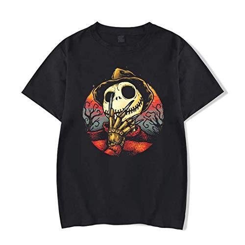 Camiseta Básica Unissex Algodão O Estranho Mundo de Jack Freddy Krueger (Preto, G)