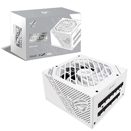 ASUS 850W電源ユニット ROG-STRIX-850W-WHITE 80 PLUS GOLD 認証 取得 10年 保証