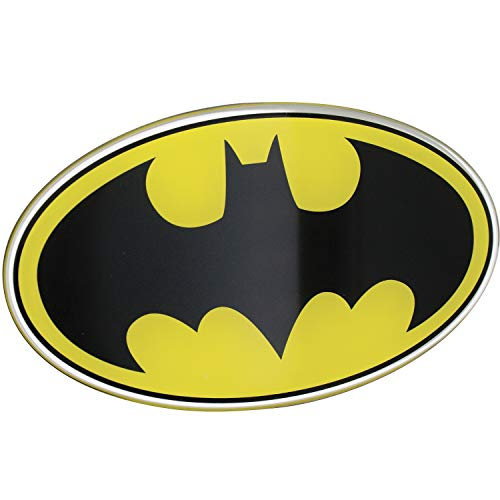 Fan Emblems Batman Domed Chrome Car Decal - 1989 Logo (Black, Yellow and Chrome)