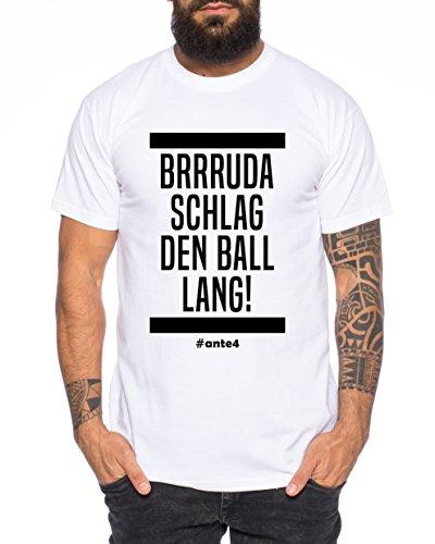 Ante Herren T-Shirt Frankfurt Pokalsieger 2018 Prince, Farbe:Weiß;Größe:XXL